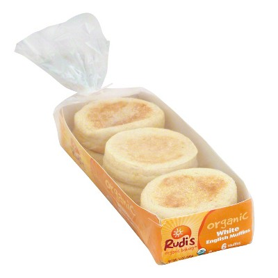 Rudi's Organic White English Muffins - 12oz