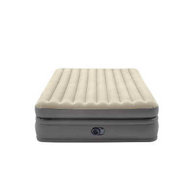 "Intex Raised Comfort Pillowtop 20"" Queen Air Mattress with 120V Internal Pump"