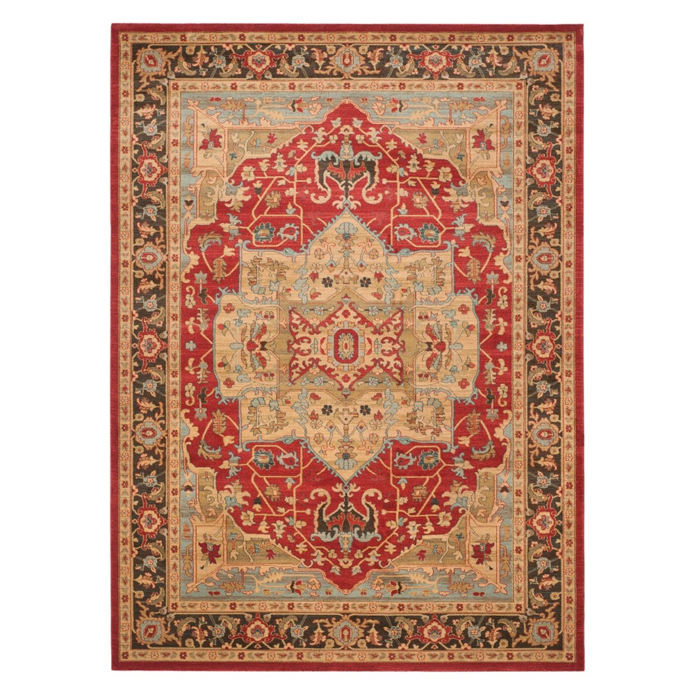11'X16' Medallion Area Rug Natural/Navy (Natural/Blue) - Safavieh