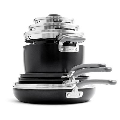 GreenPan 10pc Level Essentials Cookware Set + 3 Bonus Protectors