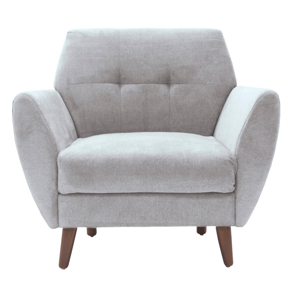 "Image of ""24"""" Amelie Mid-Century Modern Arm Chair Light Gray - Adore Décor"""