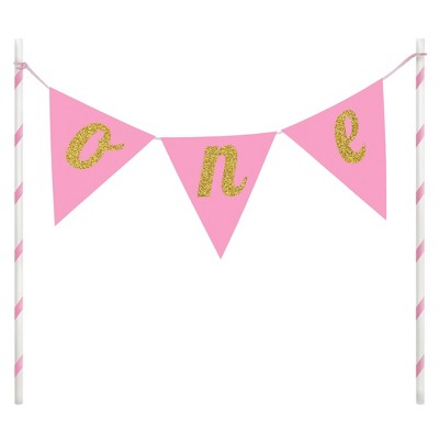 1st Birthday Girl Cake Banner