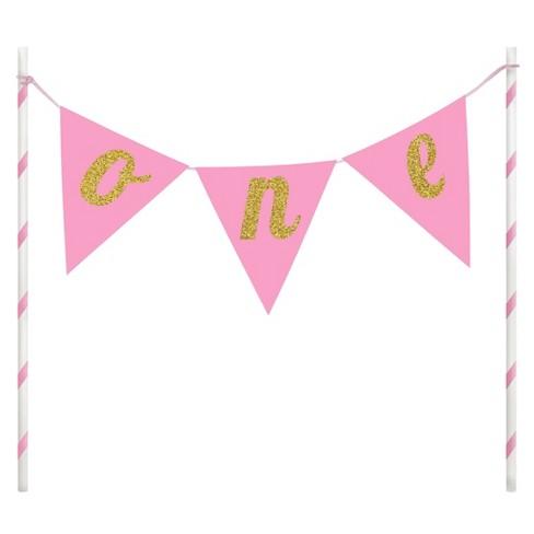 1st Birthday Girl Cake Banner - image 1 of 2