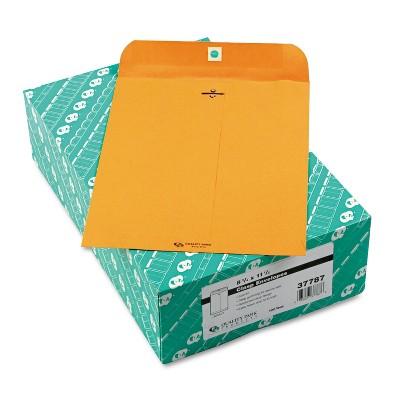 Quality Park Clasp Envelope 8 3/4 x 11 1/2 32lb Brown Kraft 100/Box 37787