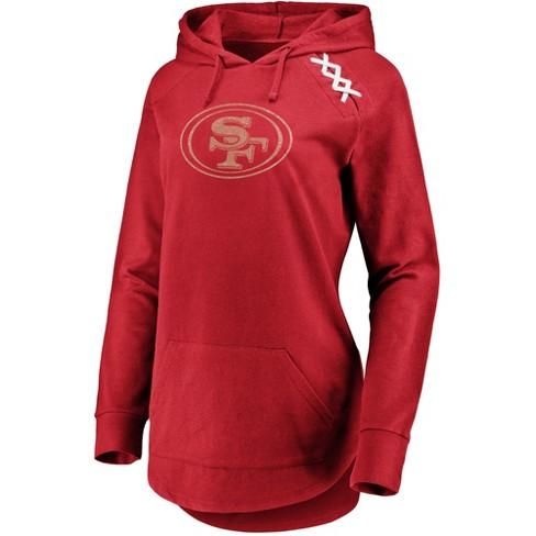 5f1bbb16418 NFL San Francisco 49ers Women s Leveraging Momentum Lightweight Hoodie