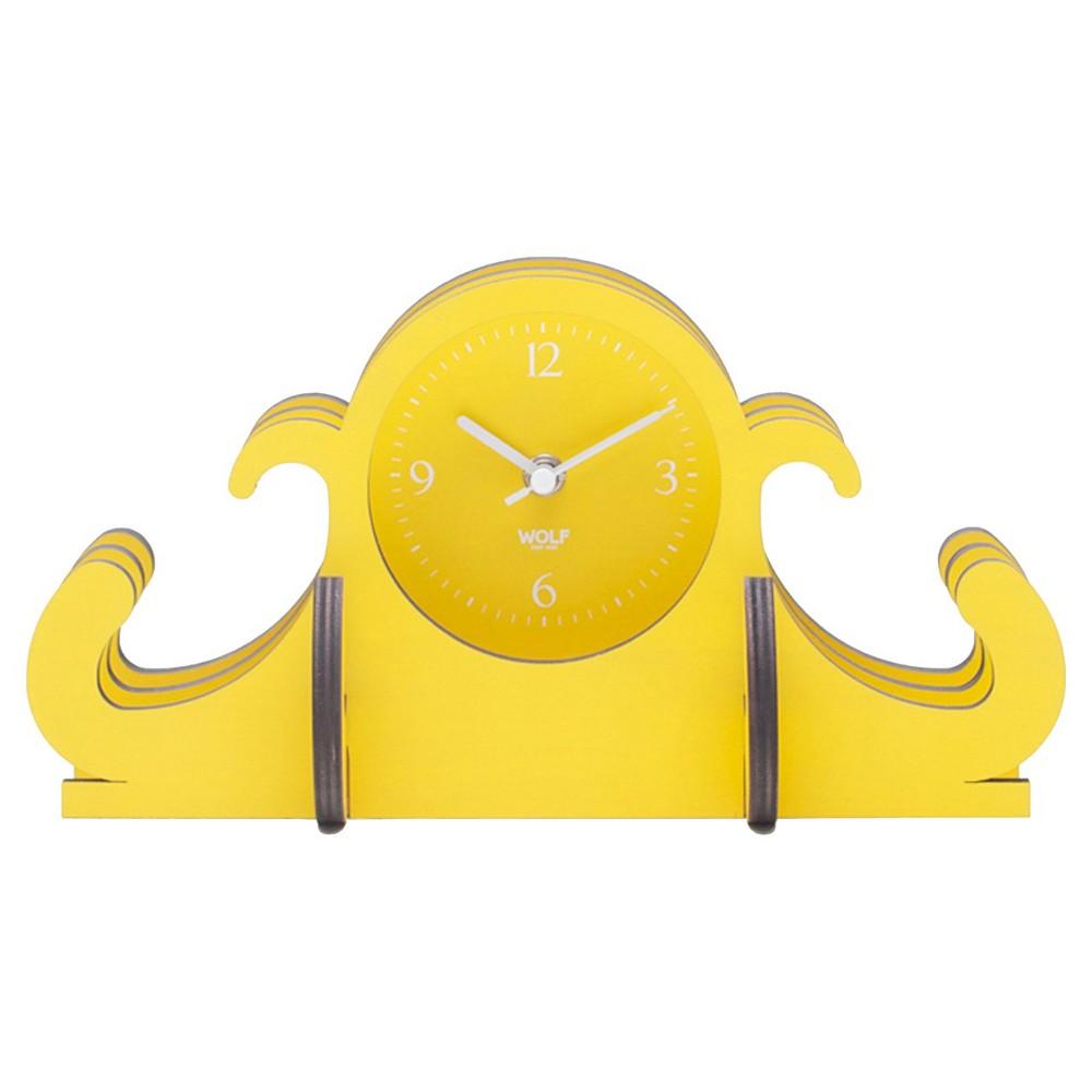Jigsaw Mantel Clock Yellow - Wolf