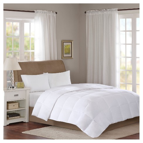 Cotton Sateen Down 300 Thread Count Comforter - Level 1 with 3M® Stain Release - image 1 of 3