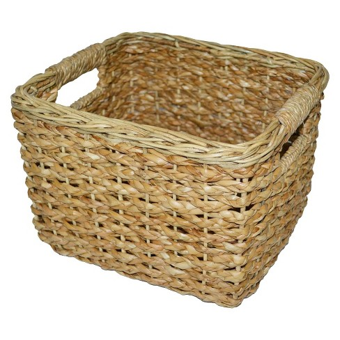 Seagrass Small Square Wicker Basket - Threshold™ - image 1 of 2