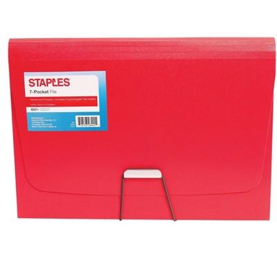Staples Plastic 7 Pocket Reinforced Expanding TR52022/52022