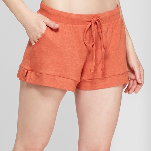 Women's French Terry Pajama Shorts - Gilligan & O'Malley™ Rust - image 1 of 2