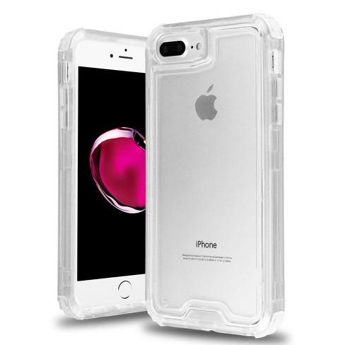 MYBAT For Apple iPhone 6 Plus6s Plus7 Plus8 Plus Clear Hard TPU Hybrid Case