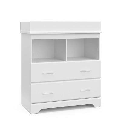 Storkcraft Brookside 2 Drawer Changing Table Dresser - White