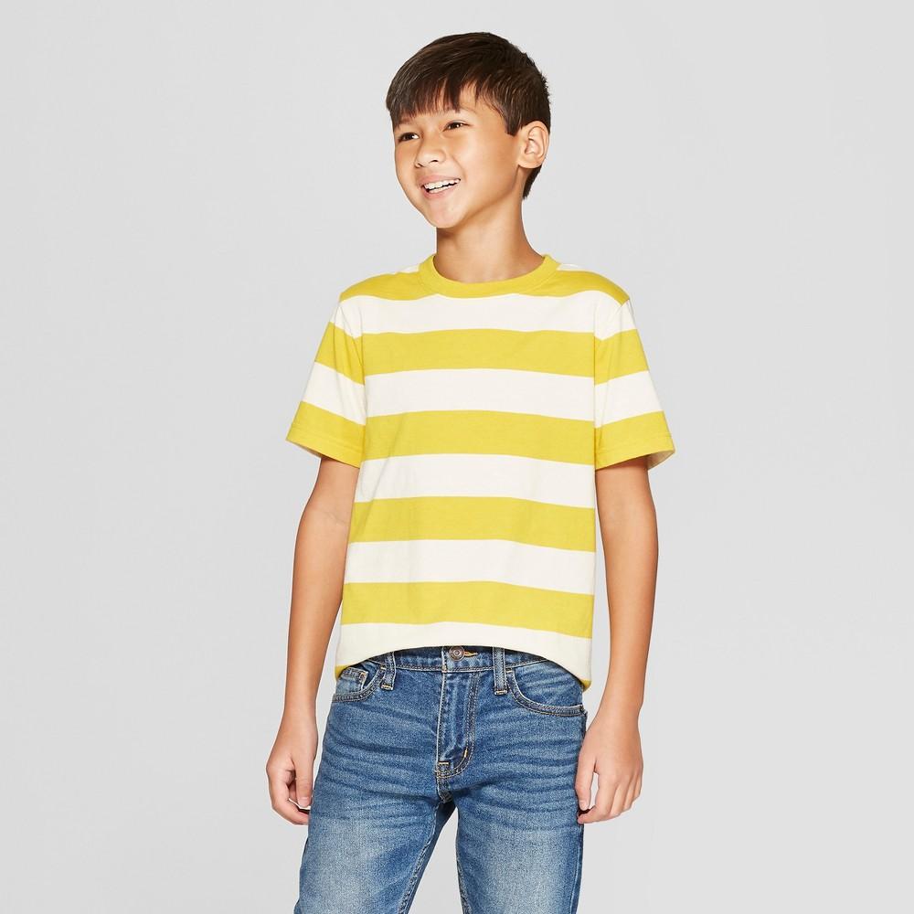 Boys' Short Sleeve Stripe T-Shirt - Cat & Jack Yellow XS