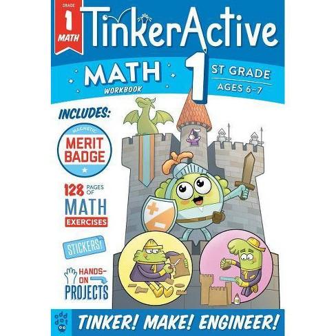 1st Grade - Math -  (Tinkeractive Workbooks) by Justin Krasner (Hardcover) - image 1 of 1