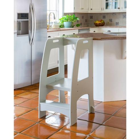 Kids' Step-Up Kitchen Helper Gray - Guidecraft - image 1 of 4