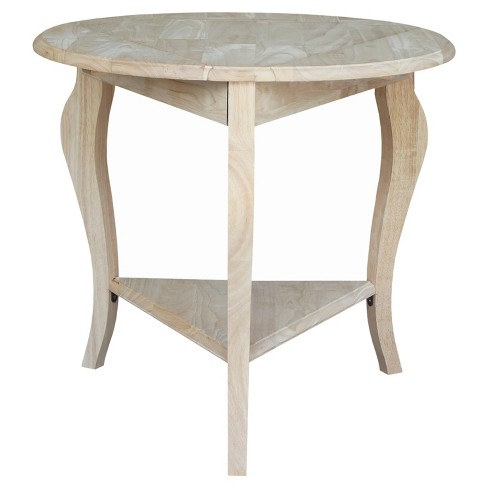 Cambria Dropleaf End Table - Unfinished - International Concepts - image 1 of 2