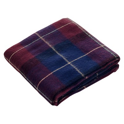 Blue/Red Cashmere Like Throw (50 X60 )- Yorkshire Home