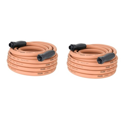 """Flexzilla Colors 50"""" Garden Water Hose w/ SwivelGrip Connections, Red  (2 Pack) - image 1 of 4"""