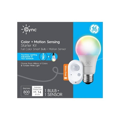 General Electric Cync Color LED Light Bulbs and Motion Starter Kit