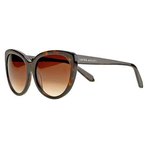 Laura Ashley Ladies Tortoise Classic Cat Eye Sunglasses - image 1 of 3