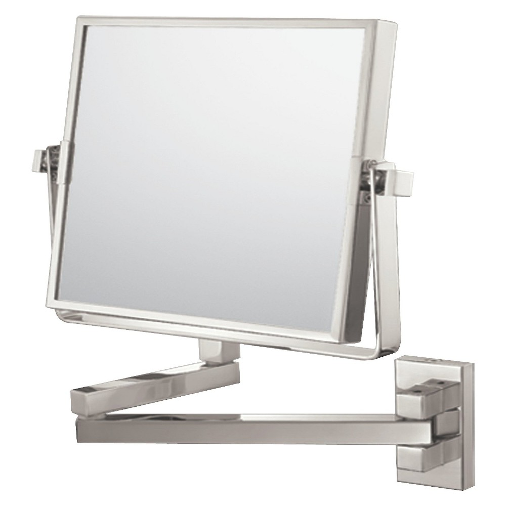 "Image of ""Bathroom Mirror Image Square Wall Bathroom Mirror 7.75"""" Brushed Nickel - Aptations, Brushed Nickle"""