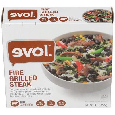 Evol Gluten Free Frozen Fire Grilled Steak Bowl - 9oz