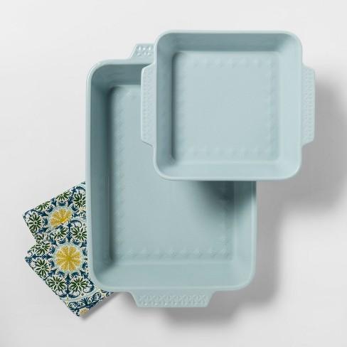 2pk Ceramic Baking Pan Aqua - Opalhouse™ - image 1 of 2
