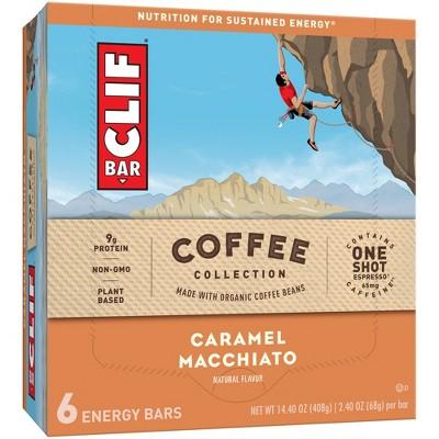 CLIF Bar Coffee Collection Caramel Macchiato 6ct
