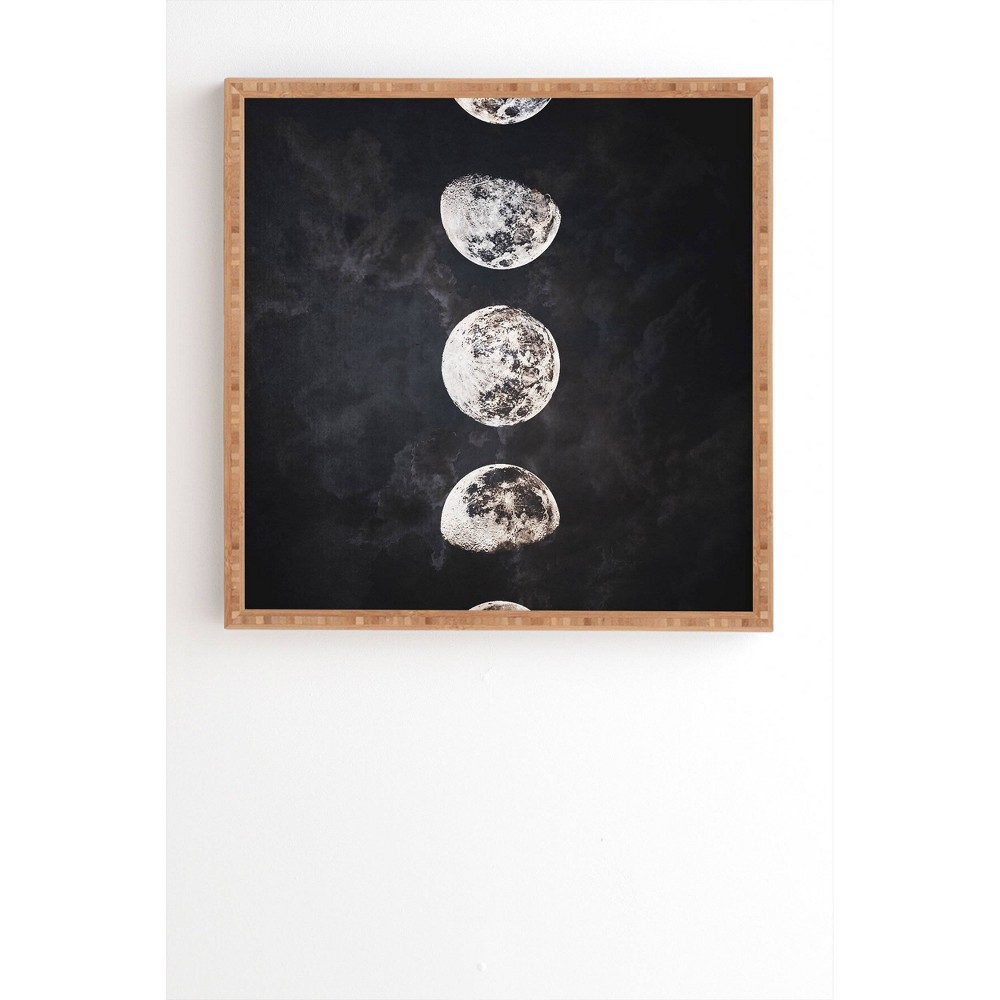 "Image of ""12"""" x 12"""" Emanuela Carratoni Mistery Moon Framed Wall Art Black - Deny Designs, Size: 12""""x12"""""""