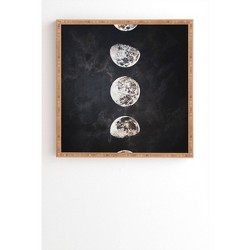 Emanuela Carratoni Mistery Moon Framed Wall Art Black - Deny Designs