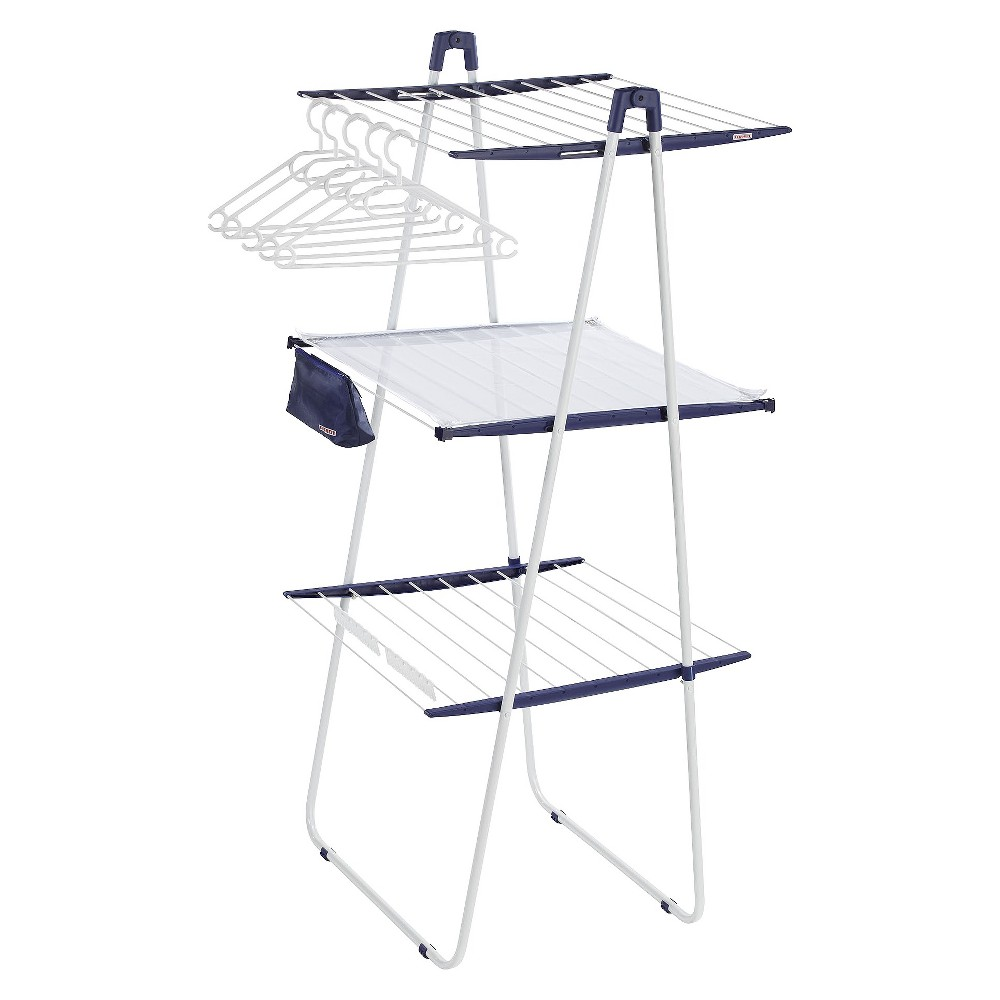 Image of Leifheit Tower 200 Deluxe Dryer - White/Blue, White/Medium Blue