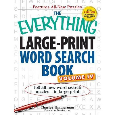 graphic about Large Printable Word Search named The Every thing Huge-Print Phrase Glimpse Ebook, Quantity IV - (Anything(r)) by way of Charles Timmerman