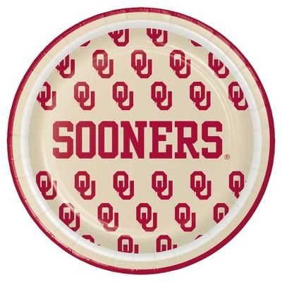 "8ct University of Oklahoma 7"" Dessert Plates - NCAA"