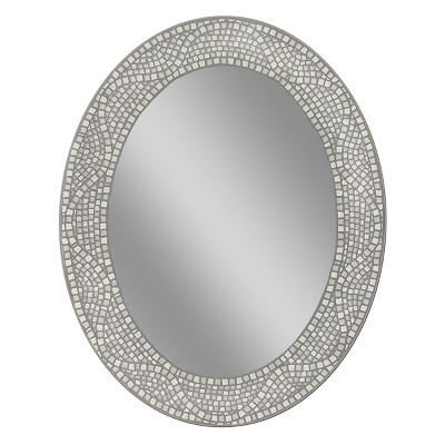 Head West 23  x 29  Opal Mosaic Oval Mirror