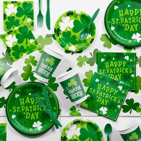 Shamrocks St Patrick S Day Party Supplies Kit Green