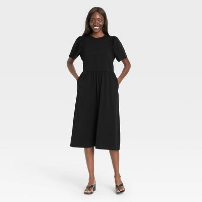 Women's Angel Short Sleeve Smocked Knit Dress - Who What Wear™