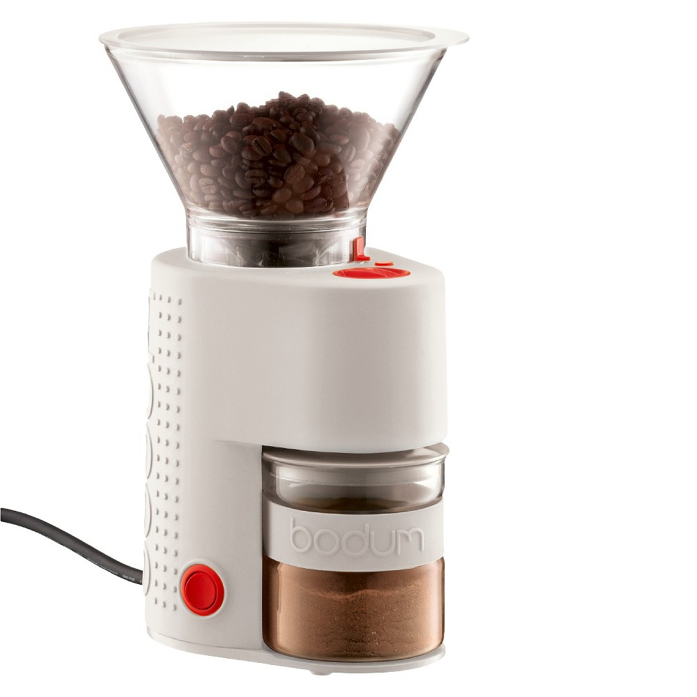 Image of Bodum Bistro White Electric Coffee Grinder