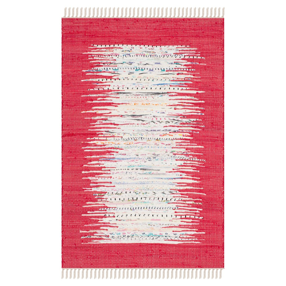 Bettina Flatweave Accent Rug - Ivory / Red (3' X 5') - Safavieh