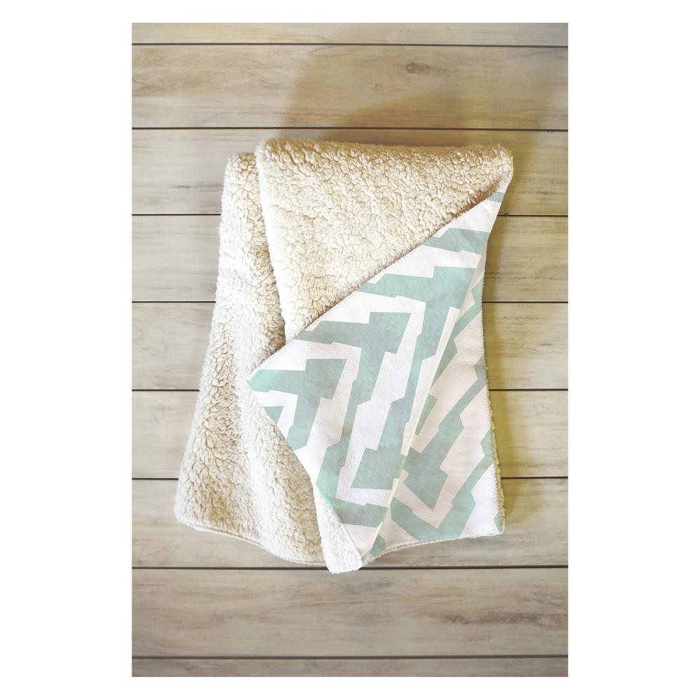 Image of 50''x60'' Georgiana Paraschiv Zigzag Throw Blanket Pastel Green - Deny Designs