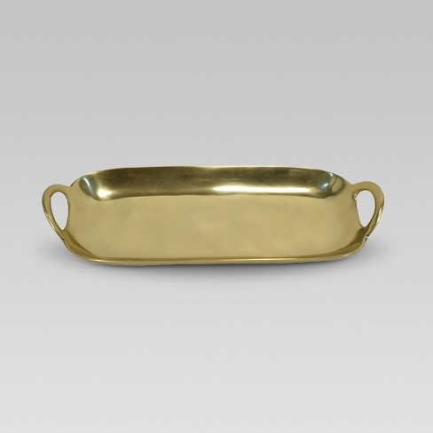 Oblong Metal Tray Gold - Project 62™ - image 1 of 1