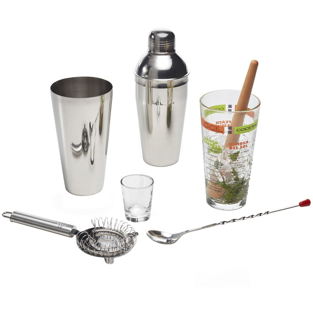 Image of Libbey 9pc Mixologist Cocktail Bar Set