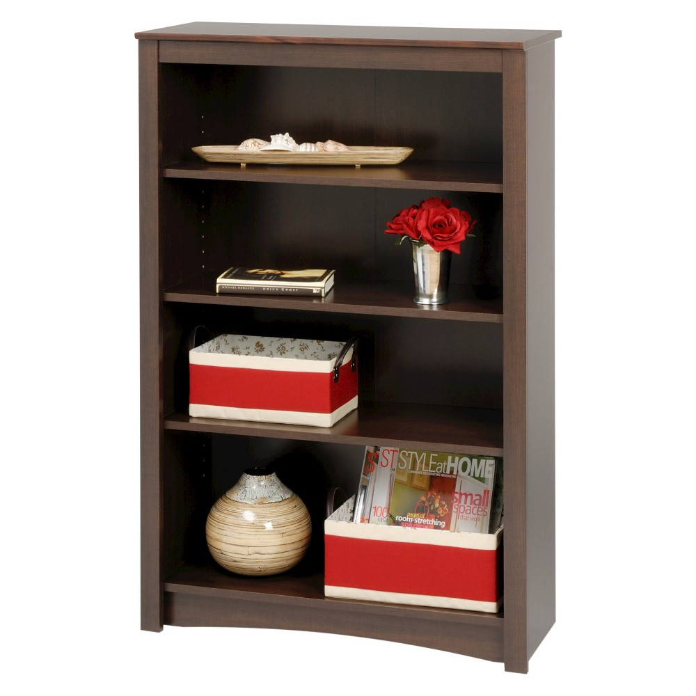 4 Shelf Bookcase Espresso - Prepac, Heather Expresso