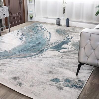 Modern Marble Polypropylene Indoor Area Rug or Runner by Blue Nile Mills