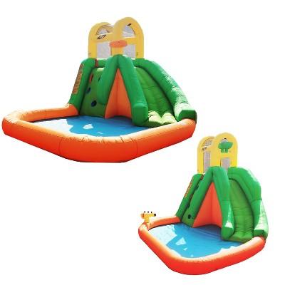 Magic Time International Splash Fun Backyard Inflatable Water Park And Magic Time International Large Splash Fun Yard Inflatable Water Park