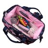 Baby Essentials Floral Backpack - Navy - image 4 of 4