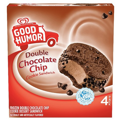Good Humor™ Ice Cream & Frozen Desserts Double Chocolate Chip Cookie Sandwich 4 ct - image 1 of 3