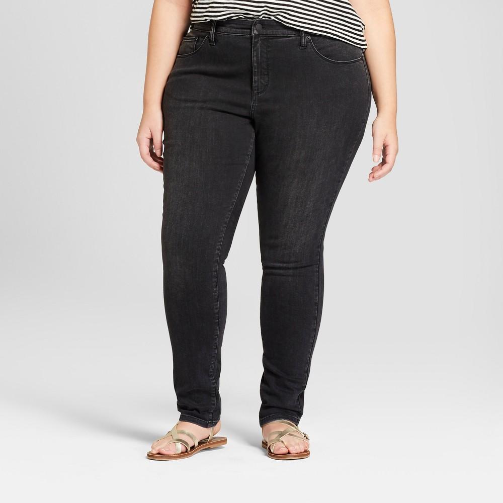 Women's Plus Size Curvy Skinny Jeans - Universal Thread Black 16W