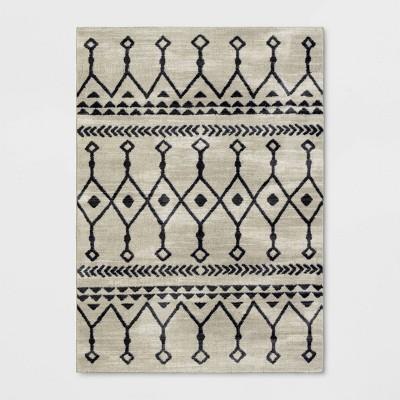 5'x7' Moroccan Tribal Rug Black/White - Opalhouse™