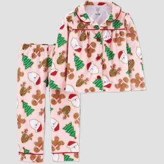 Toddler Girls' Santa Coat Pajama Set - Just One You® made by carter's Pink 2T