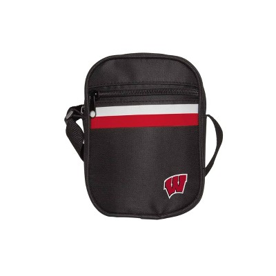 NCAA Wisconsin Badgers Black Mini Messenger Bag